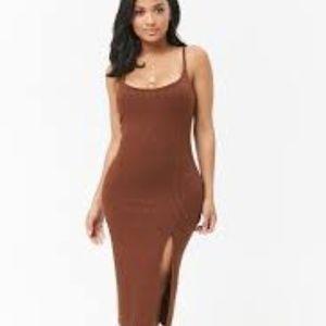 Forever 21 Dresses - Thigh Slit Midi Dress Sz. L